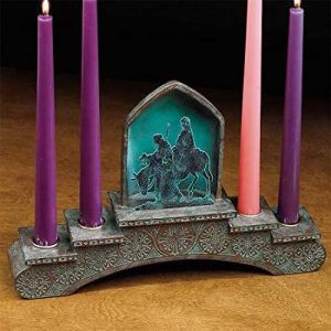 Holy Family Copper Patina Advent Wreath
