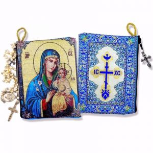Mary the Eternal Bloom Tapestry Pouch