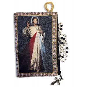 Divine Mercy Tapestry Rosary Pouch