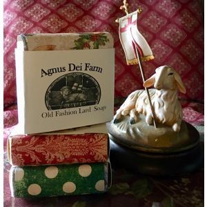ACM175 Christmas Wrap Lard Soap
