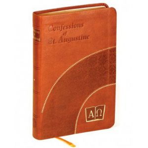Confessions of St Augustine (Burgundy Leather)