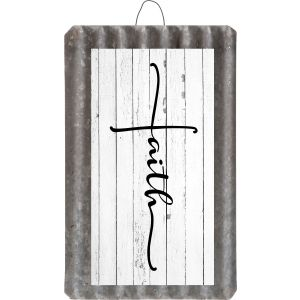 Faith Art Metal Sign