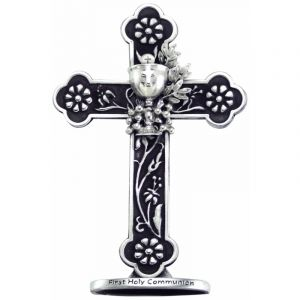 Pewter First Communion Standing Cross