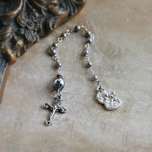 Grey Pearl Chaplet with Our Lady of Perpetual Help