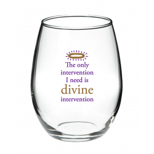 Divine Intervention Stemless Wine Glass