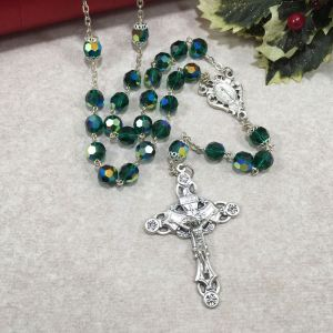 Czech Glass Rosary Emerald