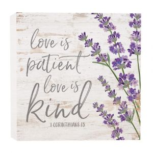 'Love Is Patient, Love Is Kind' Wood Plaque