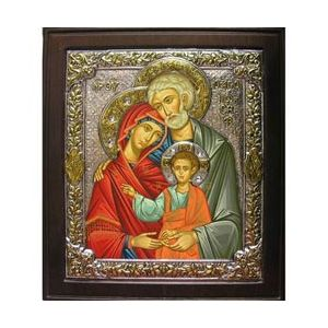Holy Family with Silver Serigraph 17x14
