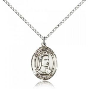 St. Elizabeth of Hungary Medal Necklace 18''
