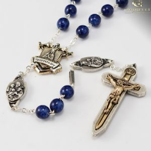 8mm Lapis Fatima Warrior Rosary