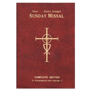 St Joseph Sunday Missal- Red Vinyl