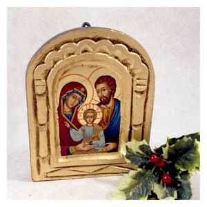 Holy Family Small Dome Icon
