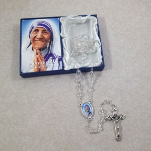 Mother Teresa Clear Crystal Rosary