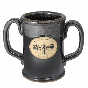 Mystic Monk Double Handed Mug (Dark Grey)