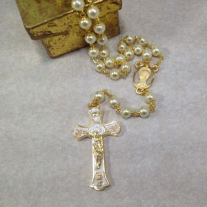 7mm Pearl Holy Mass Rosary