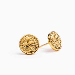 St. Benedict Stud Earrings