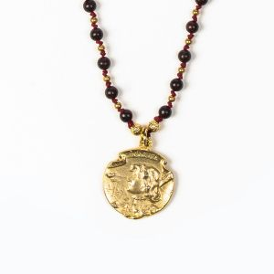 Joan of Arc Bead Necklace (Gold)