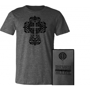 Benedictine Cross Charcoal T-Shirt