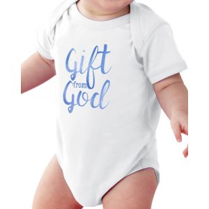 'Gift from God' Blue Onesie