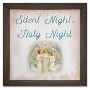 Silent Night Wood Plaque 12x12