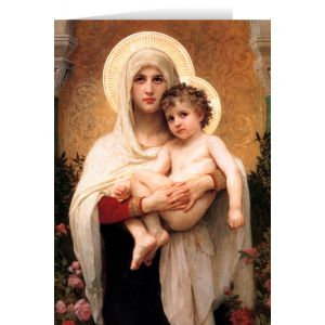 Madonna of Roses Christmas Cards