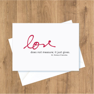 ACM146 'Love does not measure' Note Cards