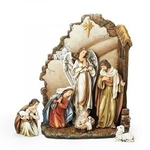 ACM160 Nativity 7 pc Set w/ Angel 13""