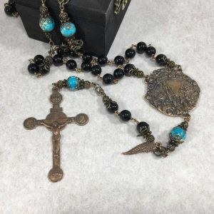 Onyx Our Lady of Fatima Rosary