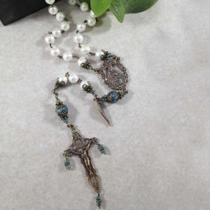 Shell Faceted Rosary
