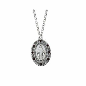 """ACM45 Miraculous Birthstone Necklace 18"""""""