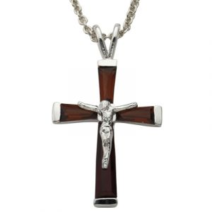 "Birthstone Crucifix 18"" Chain"