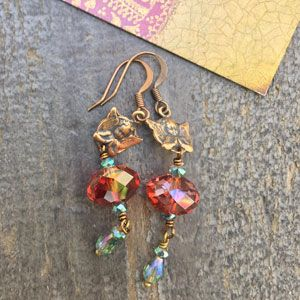 Red Lava Cherub Earrings