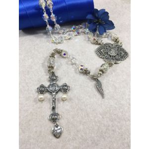 Sterling 8mm Swarovski Crystal Rosary