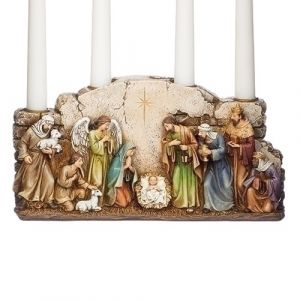 Nativity Arched Advent Candle Holder