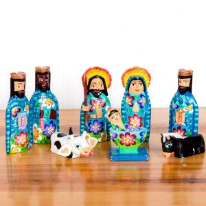 Handmade Guatemala Nativity Set 4""