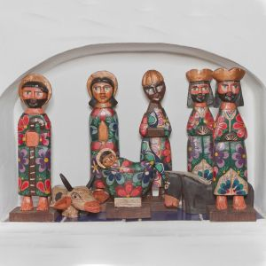 Handmade Gautemala Nativity Set 8""