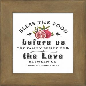 Bless the Food Before Us Wooden Box Plaque