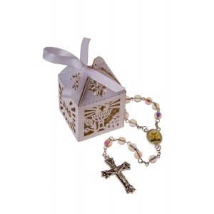 Girl's First Communion Rosary in Box