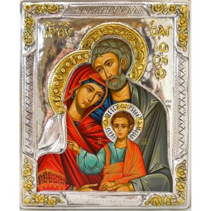 Holy Family Icon with .925 Silver