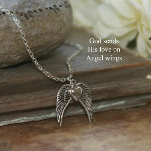 Heart with Angel Wings Necklace