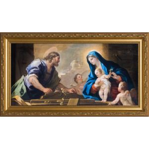 Holy Family with Joseph at the Workbench 8x16