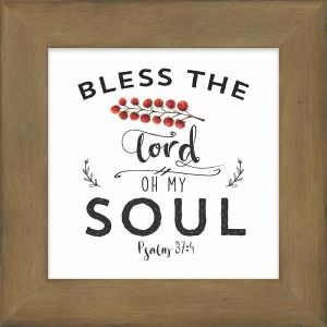 Oh My Soul Wooden Box Plaque
