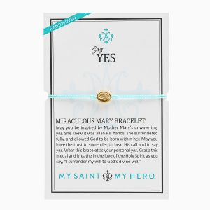 "Miraculous Mary ""Say Yes"" Mint Bracelet"