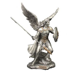 Archangel Raphael in Pewter with Gold Highlights