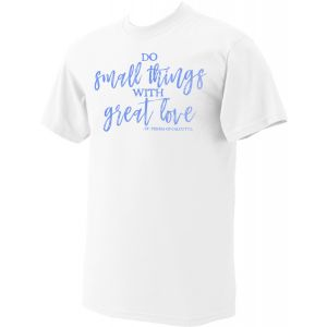 Mother Teresa 'Do Small Things' Blue Print T-Shirt