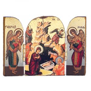 ACM130 Nativity Triptych Icon