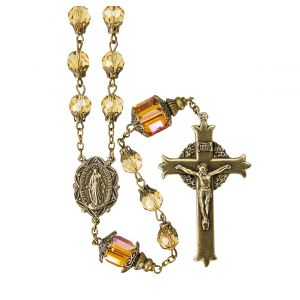 Faceted Topaz 8mm Crystal Rosary