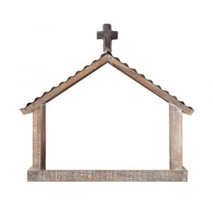 Wood and Metal Creche