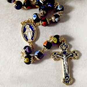 ACM165 Murano Glass Rosary