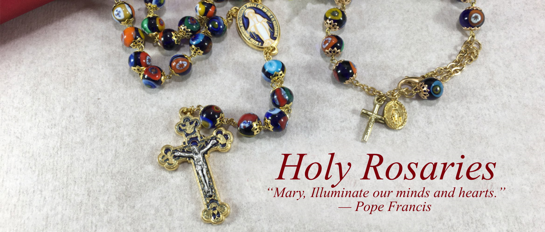 1 Holy Rosaries - Home Page Slider